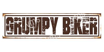 BKR001 – GRUMPY BIKER – 4.5″x18″