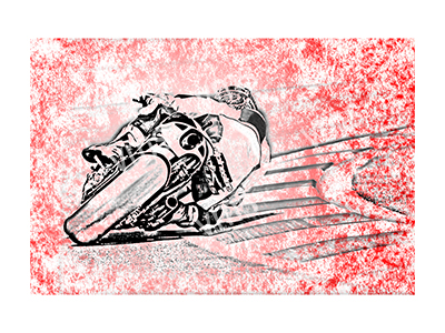 BSK002 – Bike Sketch Red – 24″x16″