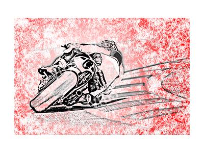 BSK003 – Bike Sketch Red – 36″x24″