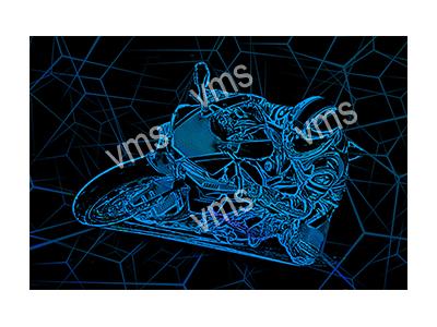 BSK004 – Bike Sketch Blue – 18″x12″