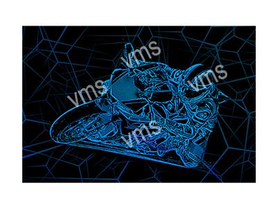 BSK005 – Bike Sketch Blue – 24″x16″