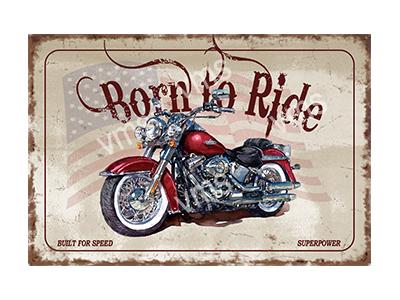BTR001 – Born To Ride – 18″x12″