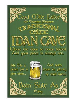 CAV003 – Celtic Man Cave – 12″x18″