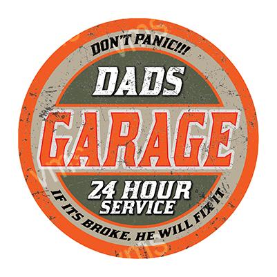 DAD003 – Dads Garage – 14″ Round