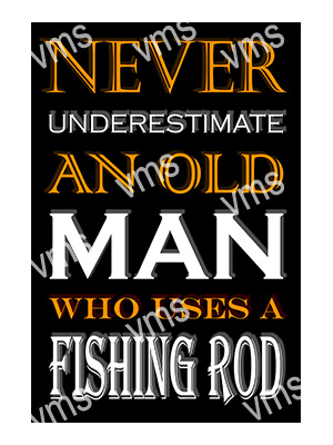 FSH009 – Old Man And His Fishing Rod – 8″x12″