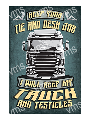 HGV003 – Truck and Testicles – 16″x24″