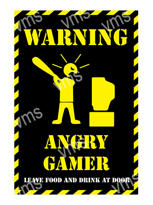 HHU046 – Angry Gamer – 8″x12″