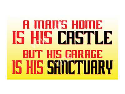 HHU012 – Mans Home Is His Castle 14″x8″