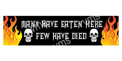 HHU018 – Few Have Died – 18″x4.5″