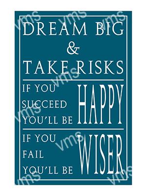 HHU024 – Dream Big & Take Risks – 8″x12″