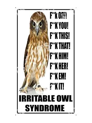 HHU029 – Irritable Owl Syndrome – 8″x14″