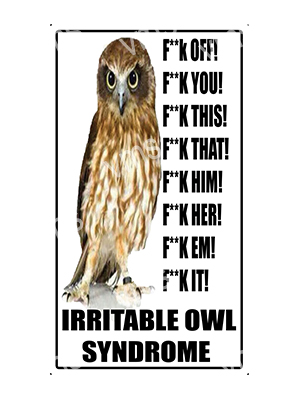 HHU029 – Irritable Owl Syndrome – 8″x14″