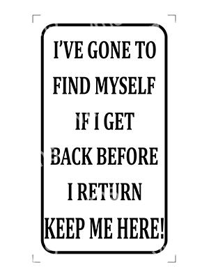 HHU037 – Ive Gone To Find Myself – 8″x14″
