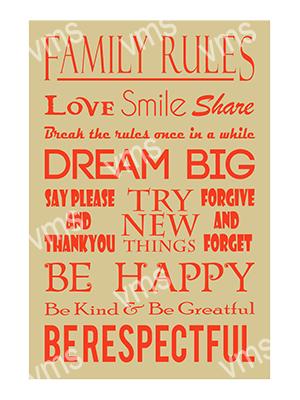 HHU048 – Family Rules – 8″x12″
