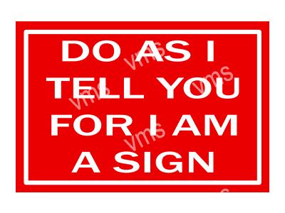 HHU056 – Do As I Tell You – 8″x12″