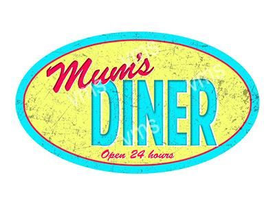 HHU063 – Mum's Diner – 14″x8″