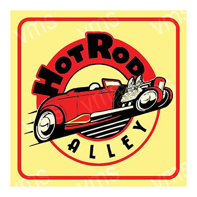 HR001 – Hot Rod Alley – 12″x12″