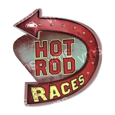 HR003 – Hot Rod Races Shape – 28″x24″