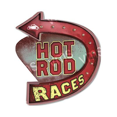 HR004 – Hot Rod Races Shape – 16″x14″