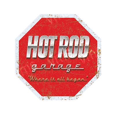 HR005 – Hot Rod Garage Stop Sign – 36″x36″