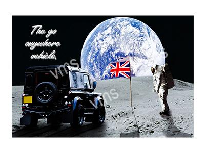LR007 – Moon Landing – 12″x8″