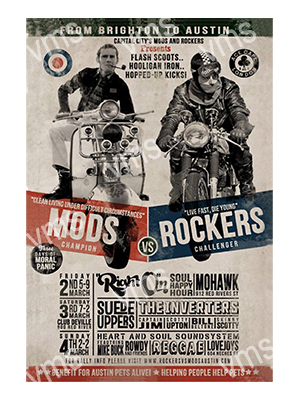 MOD002 – Mods & Rockers – 12″x18″