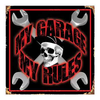 MYG004 – My Garage My Rules – 12″x12″