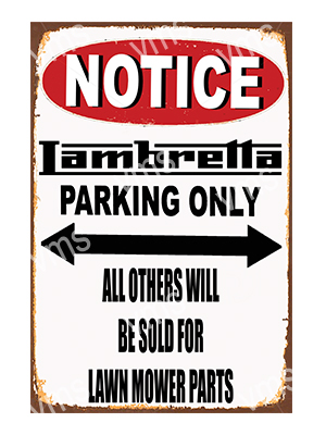 NTC013 – Parking Only – 12″x18″