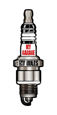 PLG003 – My Garage My Rules – 30″x9″