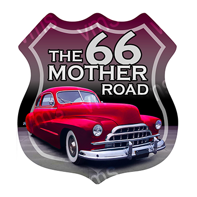 R66001 – The Mother Road Car – 29.5″x30.5″