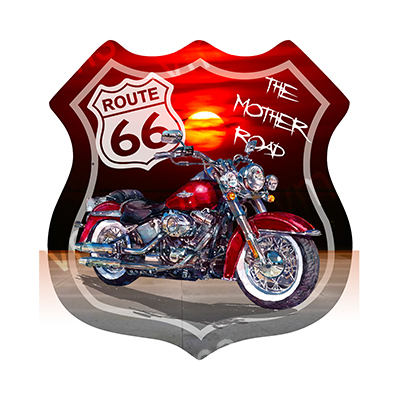 R66004 – The Mother Road Bike Shield 16″x16.5″