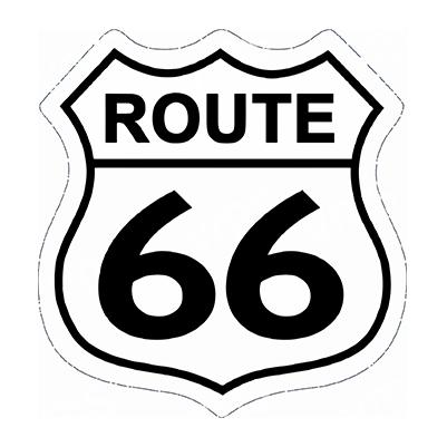 R66009 – Route 66 Shield – 16″x16.5″