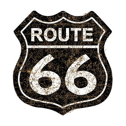 R66012 – Route 66 Shield Black – 29.5″x30.5″