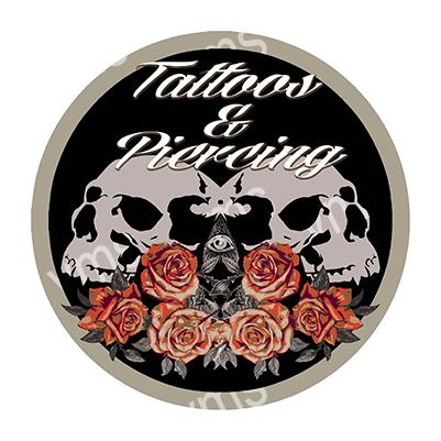 TAT004 – Tattoo & Piercing – 14″ Round