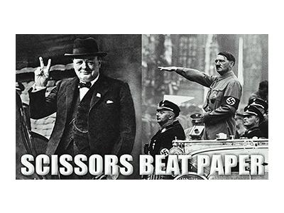 WAR004 – Scissors Beats Paper – 14″x8″