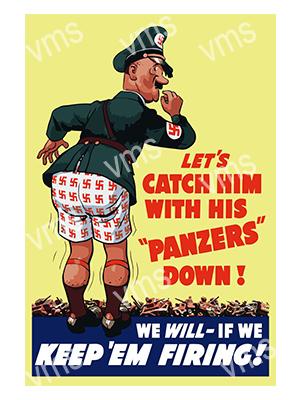 WAR012 – Panzers Down – 8″x12″