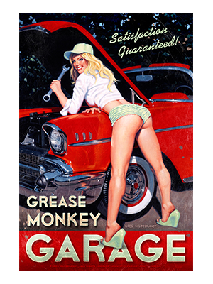 Pin001 – Grease Monkey – 12″x18″