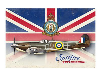 AAV003 – Spitfire – 18″x12″