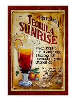AFD002 – Tequila Sunrise – 12″x18″