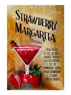 AFD003 – Strawberry Margarita – 12″x18″