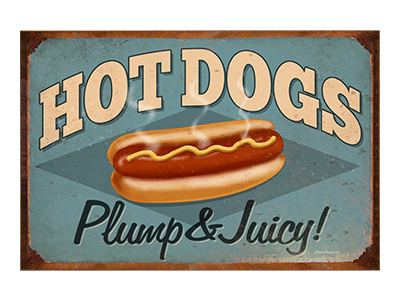 AFD006 – Hot Dogs – 18″x12″