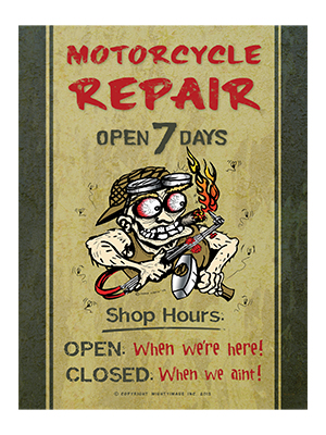 AGH001 – Motor Cycle Repair – 12″x18″