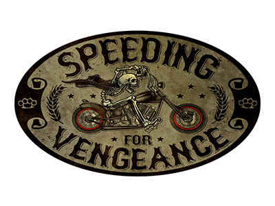 AMB008 – Speeding – 24″x14″ Oval