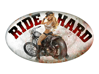 AMB009 – Ride Hard – 24″x14″ Oval