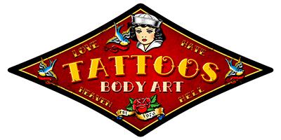 ATAT003 – Tattoo Body Art – Diamond 28″x14″