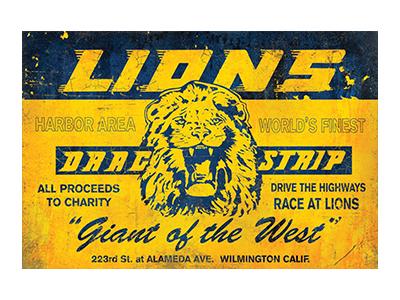 LNS001 – Lions – 18″x12″