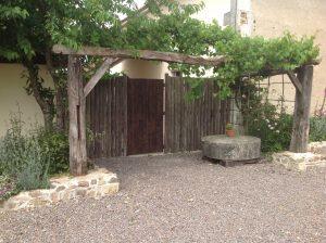 Chasse garden entrance