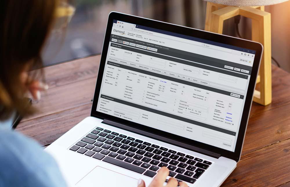 Laptop displaying Diamond's Episode page