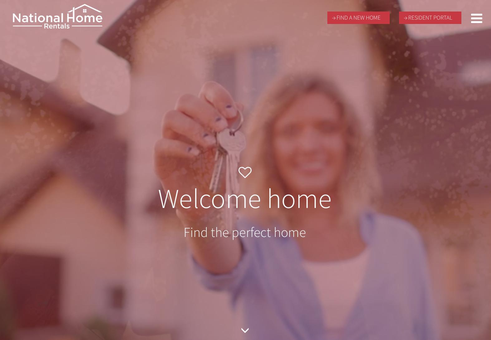 responsive website design for National Home Rentals