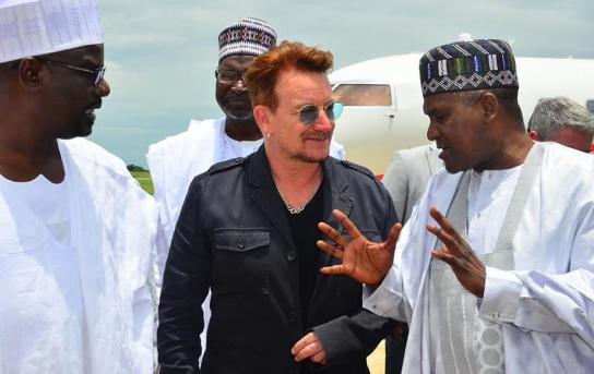 Photo of Aliko Dangote and Irish Musician Bono Pay Official Visit to Maiduguri